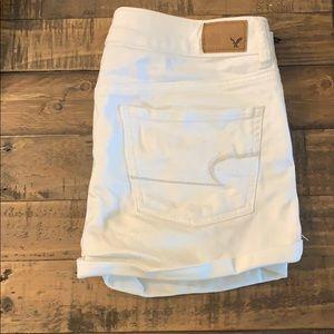 White American Eagle denim shorts